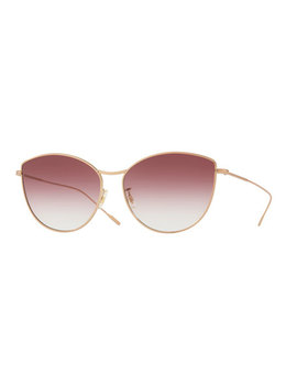 Rayette Vintage Inspired Metal Cat Eye Sunglasses, Rose Gold by Oliver Peoples