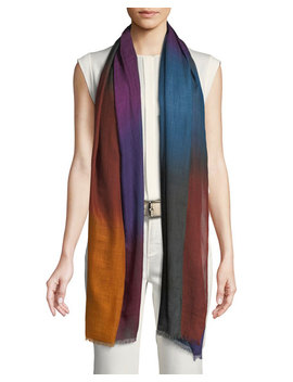 Vivace Unique Colorblock Cashmere Stole by Loro Piana