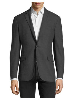 Tonal Plaid Wool Sport Coat by Neiman Marcus