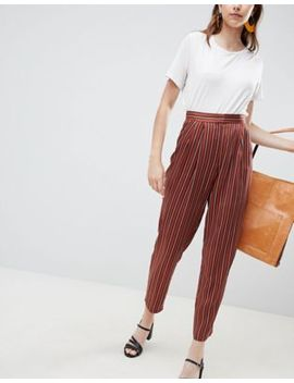 Asos Design Coloured Striped Tapered Pants by Asos Design
