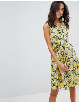 Moon River Marigold Floral Dress by Moon River