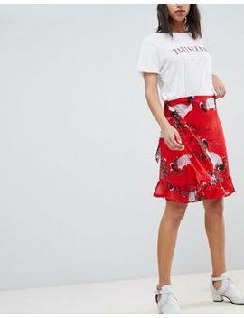 Sofie Schnoor Exotic Bird Print Wrap Skirt by Sofie Schnoor