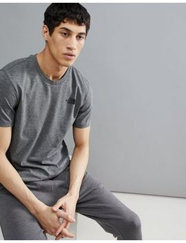 The North Face Simple Dome T Shirt In Grey Heather by The North Face
