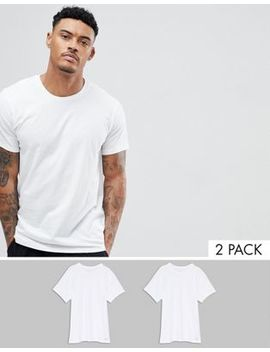 Calvin Klein Cotton Classics T Shirts 2 Pack In Regular Fit by Calvin Klein