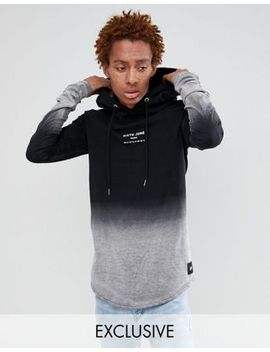 Sixth June Hoodie With Bleach Fading Exclusive To Asos by Sixth June