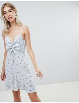 Warehouse Ditsy Ruched Dress by Warehouse