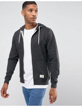 Blend Zip Thru Hoodie Core In Charcoal by Blend