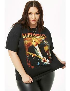 Plus Size Kurt Cobain Graphic Tee by Forever 21