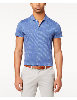 Men's Slim Fit Printed Jersey Polo by Brooks Brothers
