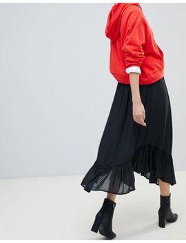 Esprit Frill Hem Midi Skirt by Esprit
