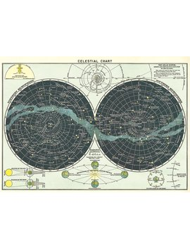 Cavallini & Co. Celestial Chart Poster Wrapping Paper Sheet by Cavallini & Co.