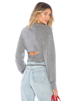 Cropped V Neck Sweater by T By Alexander Wang