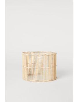 Lampenschirm Aus Bambus by H&M