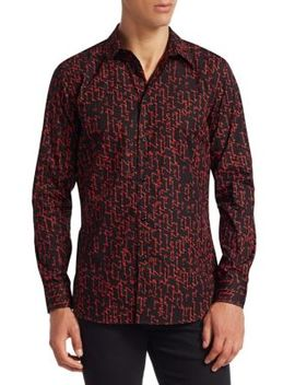Print Button Down Shirt by Givenchy