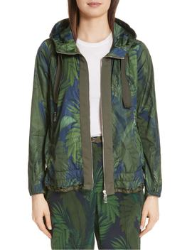 Morion Print Hooded Raincoat by Moncler