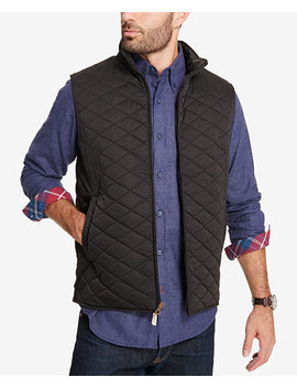 Men's Quilted Full Zip Stand Collar Vest, Created For Macy's by Weatherproof Vintage
