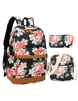 Bluboon Canvas Bookbags School Backpack Laptop Schoolbag For Teens Girls High School by Bluboon