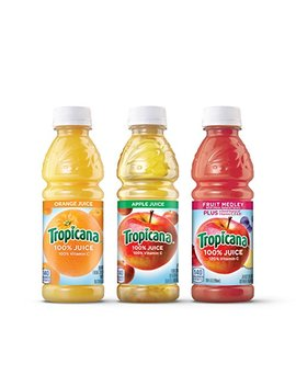 Tropicana 100 Percents Juice 3 Flavor Classic Variety Pack, 10 Ounce Bottles, 24 Count by Tropicana