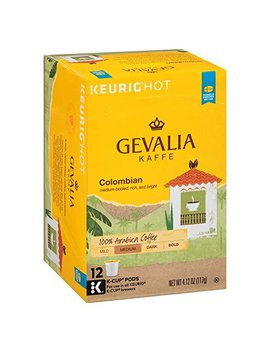 Gevalia Colombia Blend Coffee, Medium Roast, K Cup Pods, 12 Count by Gevalia