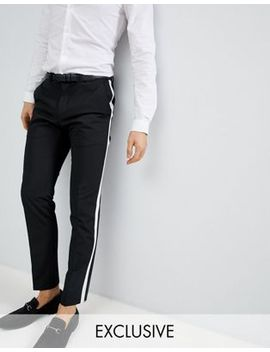Noak Skinny Trousers With Side Stripe by Noak