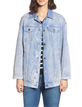 Oversize Cotton Canvas Trucker Jacket by Levi's®