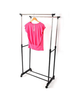 Winado Adjustable Rolling Garment Rack Clothes Rack Double Bar Hanging Hanger Space Saving Winado Adjustable Rolling Garment Rack Clothes Rack Double Bar Hanging Hanger Space Saving by Kmart