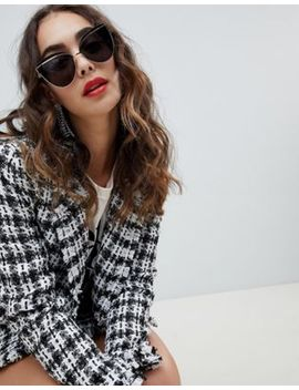 River Island Tinted Lensed Cat Eye Sunglasses by River Island