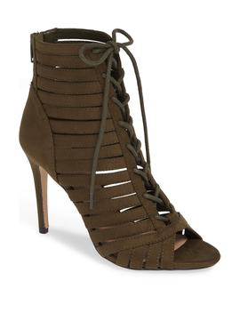 Julie Lace Up Open Toe Bootie by Bcbg