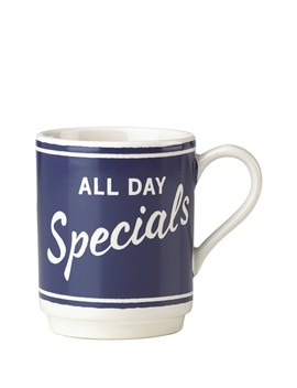 Orders Up Mug   Navy by Kate Spade New York