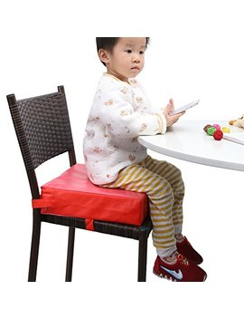 Zicac Kids' Dining Chair Heightening Cushion Dismountable Adjustable High Chair Pads Mat(Red) by Zicac