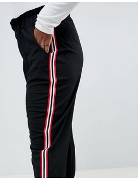 Boohoo Plus Side Stripe Trousers by Boohoo