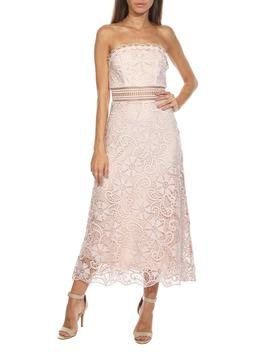 Yani Lace Strapless Midi Dress by Tfnc