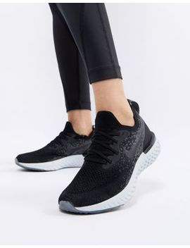 Nike Running Epic React Flyknit Trainers In Black by Nike