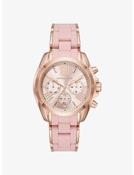Bradshaw Rose Gold Tone And Silicone Watch by Michael Kors