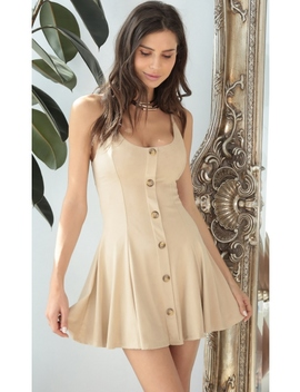 Esme Suede Dress In Sand by Lucy In The Sky