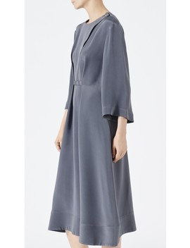 Silk Cropped Sleeve Dress by Tibi