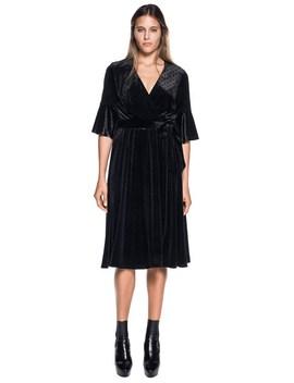 Velvet Wrap Dress by Cue