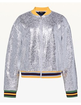 Juicy Forever Crackle Foil Bomber Jacket by Juicy Couture