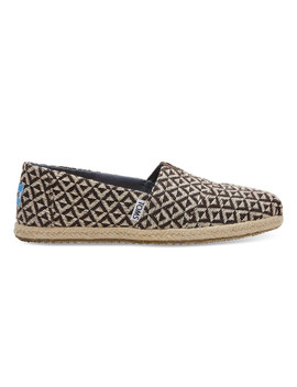 Chocolate Brown Diamond Geo Women's Alpargatas by Toms