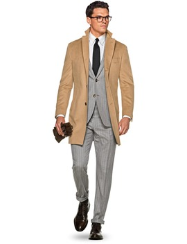 Camel Overcoat by Suitsupply