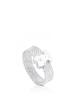 Silver Mesh Ring by Tous