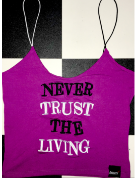 Never Trust The Living Skinny Tank by O Mighty