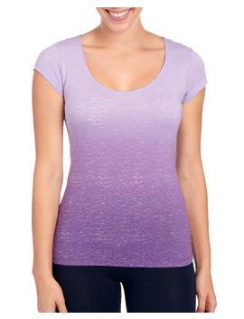 Ombre Print Lattice Strap Back Tee Shirt Ombre Print Lattice Strap Back Tee Shirt by Earth Yoga Earth Yoga