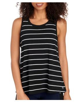 Striped Print Cutout Tank Striped Print Cutout Tank by Famous Brand Famous Brand