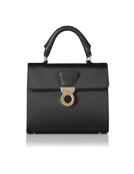 Amelia Black Satin Shoulder Bag by L.K.Bennett