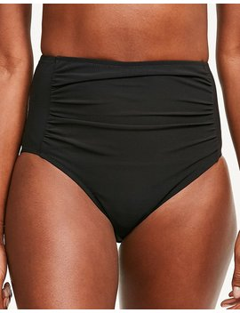 Rene High Waisted Tummy Control Black Bikini Brief by Figleaves