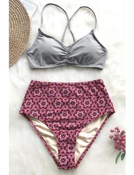 Comfort You Lace Up Bikini Set by Cupshe