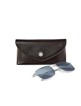 The Aerodrome Aviator Sunglasses & Case Set by Aspinal Of London