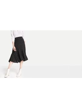 Black Ria Dot Hi Low Frill Hem Skirt by Nobody's Child