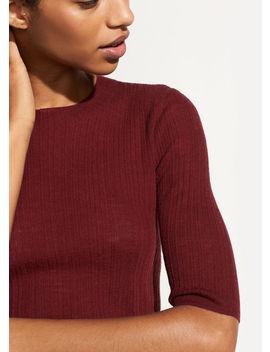 Shrunken Mock Neck Pullover by Vince